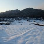 雪景色の大原