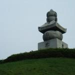 耳塚 過去の地震では塔の上が落下した