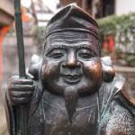 八坂神社 北向蛭子社の恵比須像