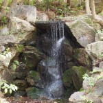 円山公園の滝