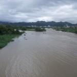 増水した桂川