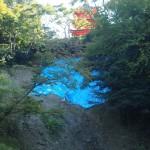 崩落した清水寺の斜面 2013年