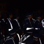鞍馬の火祭 多くの警官