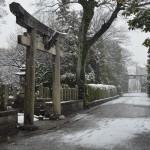 城南宮の雪景色