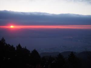 比叡山からの初日の出
