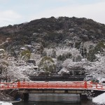 宇治の雪景色