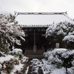 恵心院の雪景色