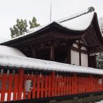 宇治神社の雪景色