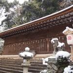宇治上神社の雪景色