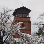 宇治駐屯地の雪景色