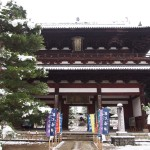 萬福寺の雪景色