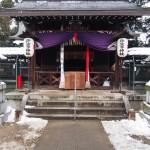 許波多神社の雪景色