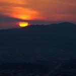 伏見稲荷大社 四つ辻からの日没
