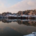 長岡天満宮の雪景色