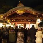 恵美須神社 夜通し賑わう
