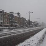 大雪の堀川通