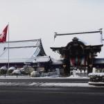 西本願寺の雪景色