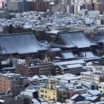 京都タワーからの雪景色