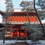 妙心寺 三門 雪景色