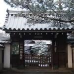妙心寺 退蔵院 雪景色