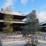 妙心寺の雪景色