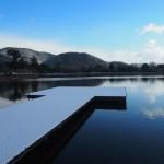 大覚寺 大沢池の雪景色