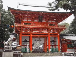 今宮神社の雪景色