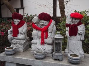 革堂 七福神の石像