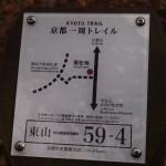 京都一周トレイルの案内板