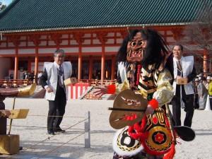 平安神宮・節分祭 鬼の舞