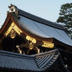 京都御所 朔平門の雪化粧