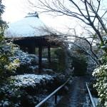 光悦寺 雪景色
