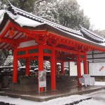 雪の石清水八幡宮