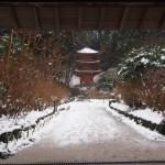 岩船寺の雪景色