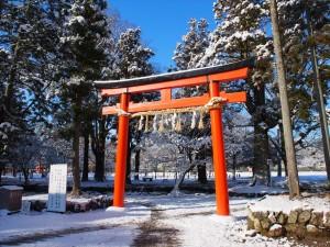 上賀茂神社の雪景色