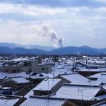二葉姫稲荷神社からの雪景色