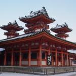 平安神宮の雪景色