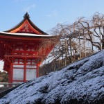 清水寺の雪景色
