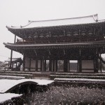 東福寺 雪の三門