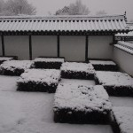 東福寺 雪の方丈庭園 西庭