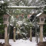 伏見神宝神社 雪景色