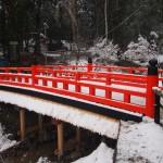 伏見稲荷大社 十石橋の雪景色