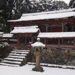 醍醐寺の雪景色