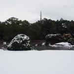 勧修寺の雪景色