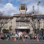 京都マラソン 京都市役所にて