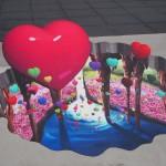 京都駅ビルのトリックアート