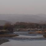鴨川から上流を望む