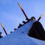 斎場所大元宮の雪景色