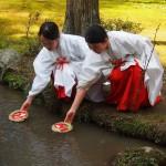 上賀茂神社 流しびな 3月