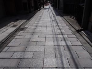 宮川町の石畳